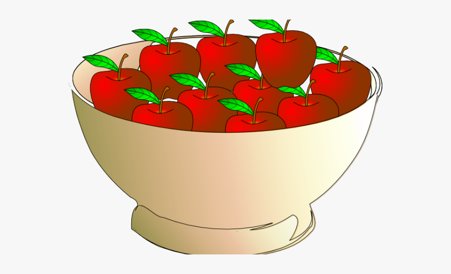 Brown apple. Clipart bowl apples in