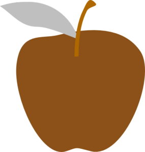 Brown apple. Edited clip art at