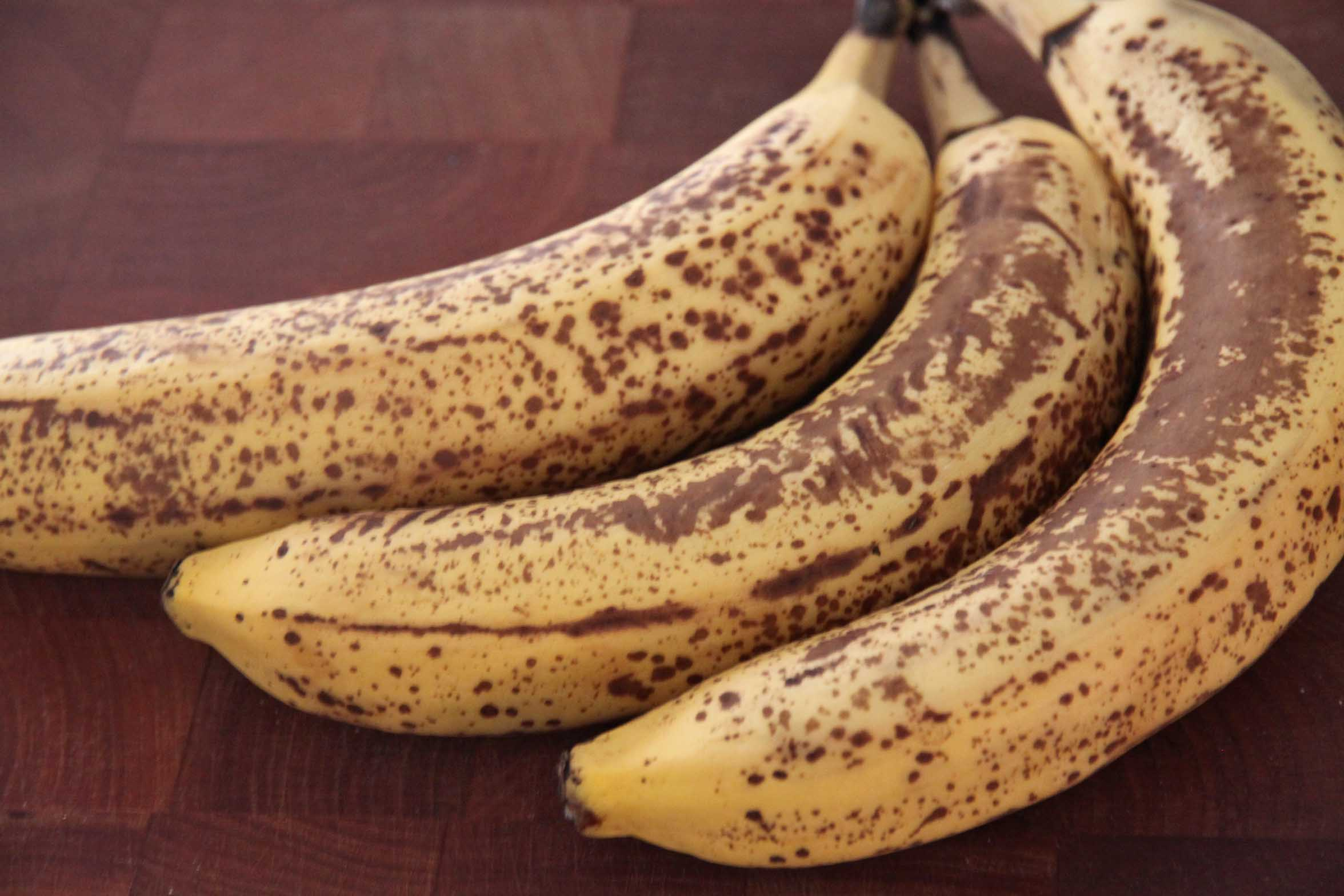 Brown banana. Is spots on the