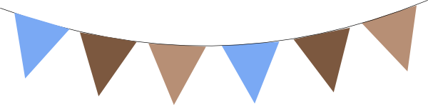 Bunting vector flag. Brown banner free png