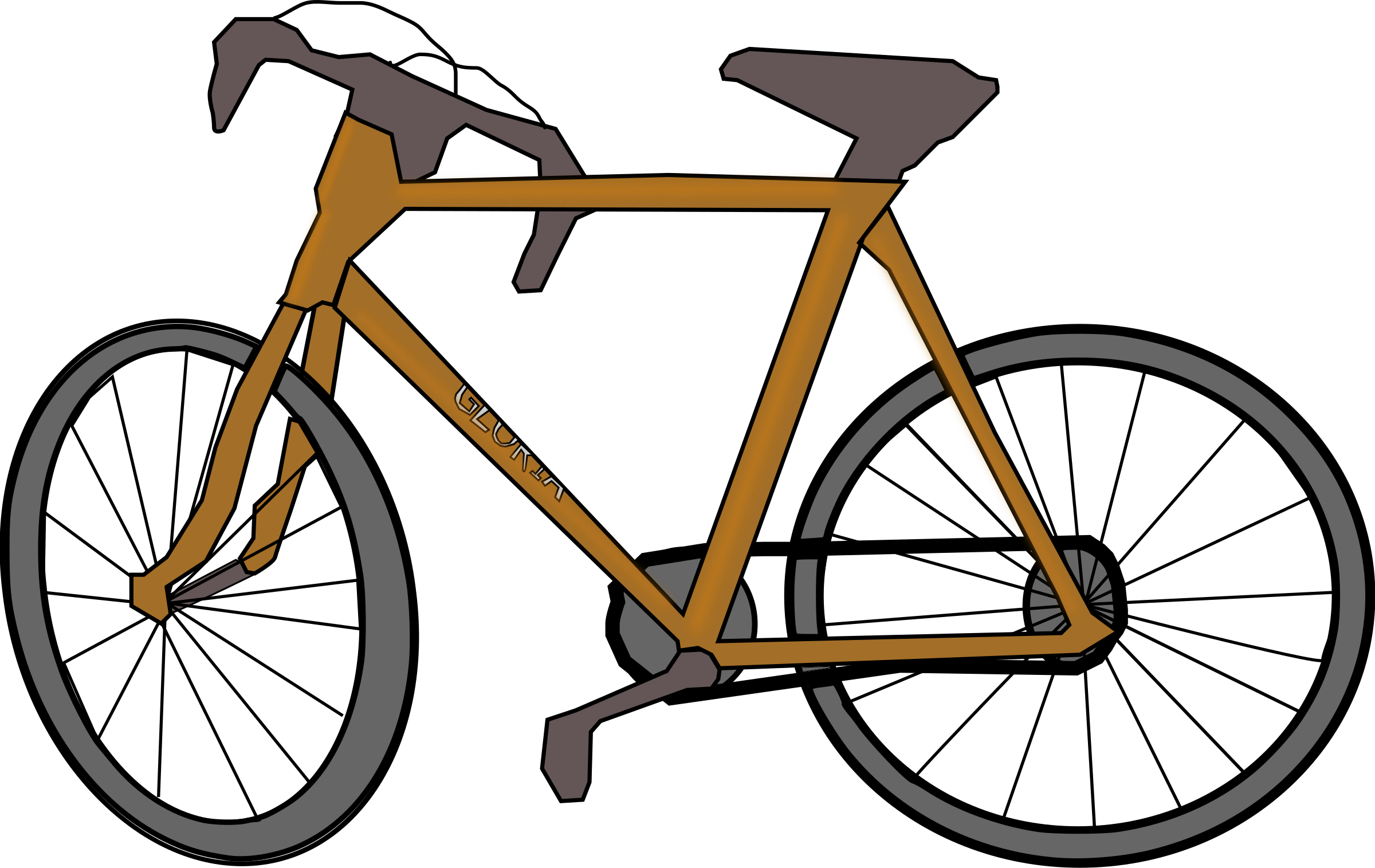 Brown bicycle. Picture of a free
