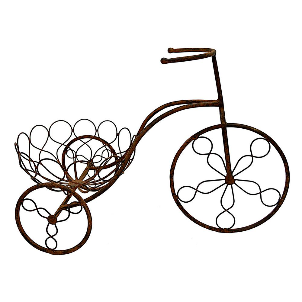 Brown bicycle. Three hands in x