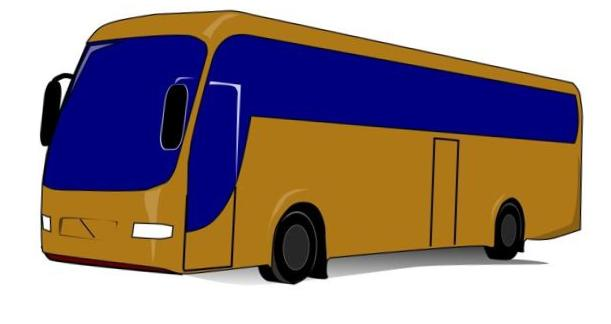 Gold bus. Free picture download clip