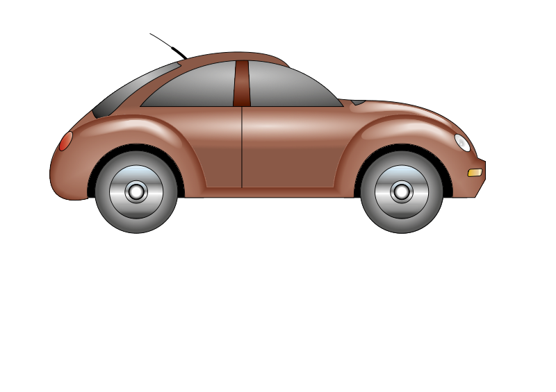 Brown car. Free clipart coche baban