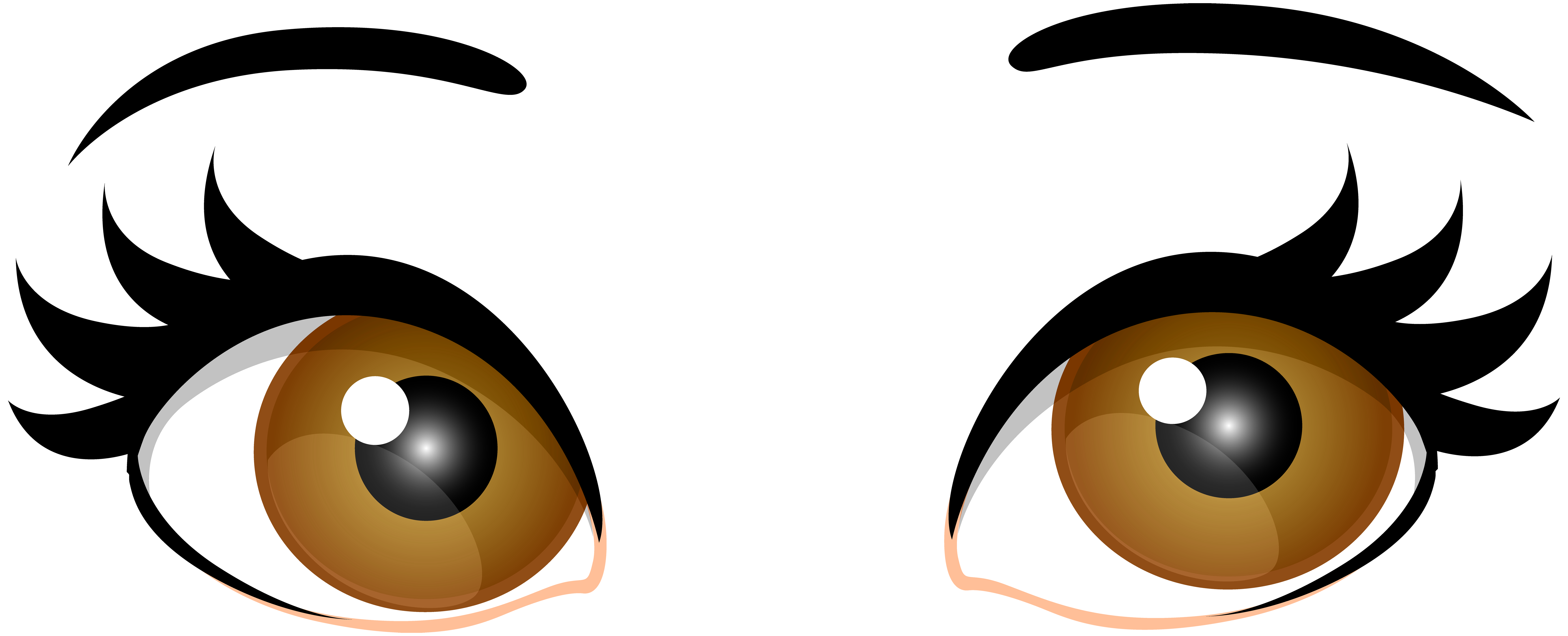 Brown clipart. Female eyes png clip
