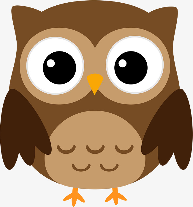 Brown clipart. Owl great horned watercolor