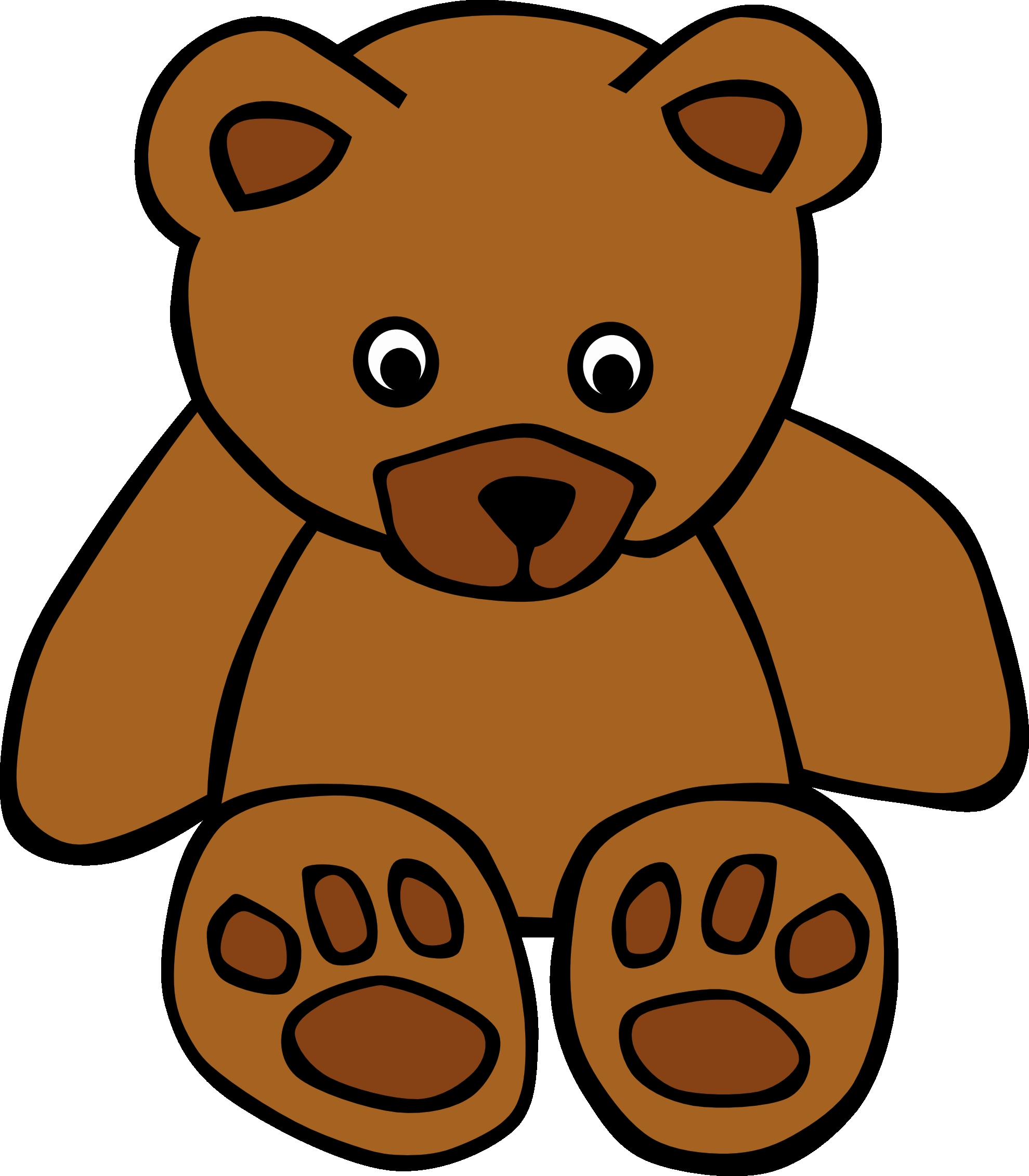 Brown clipart brown object. Bear standing up fresh