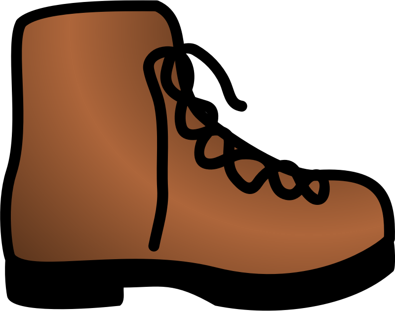 Brown clipart brown object. Simple boot medium image