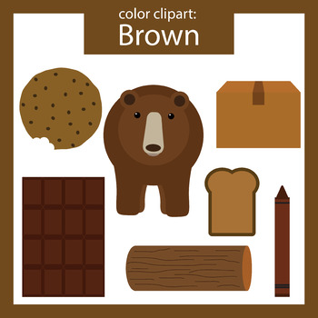 Brown clipart brown object. Color clip art objects picture black and white