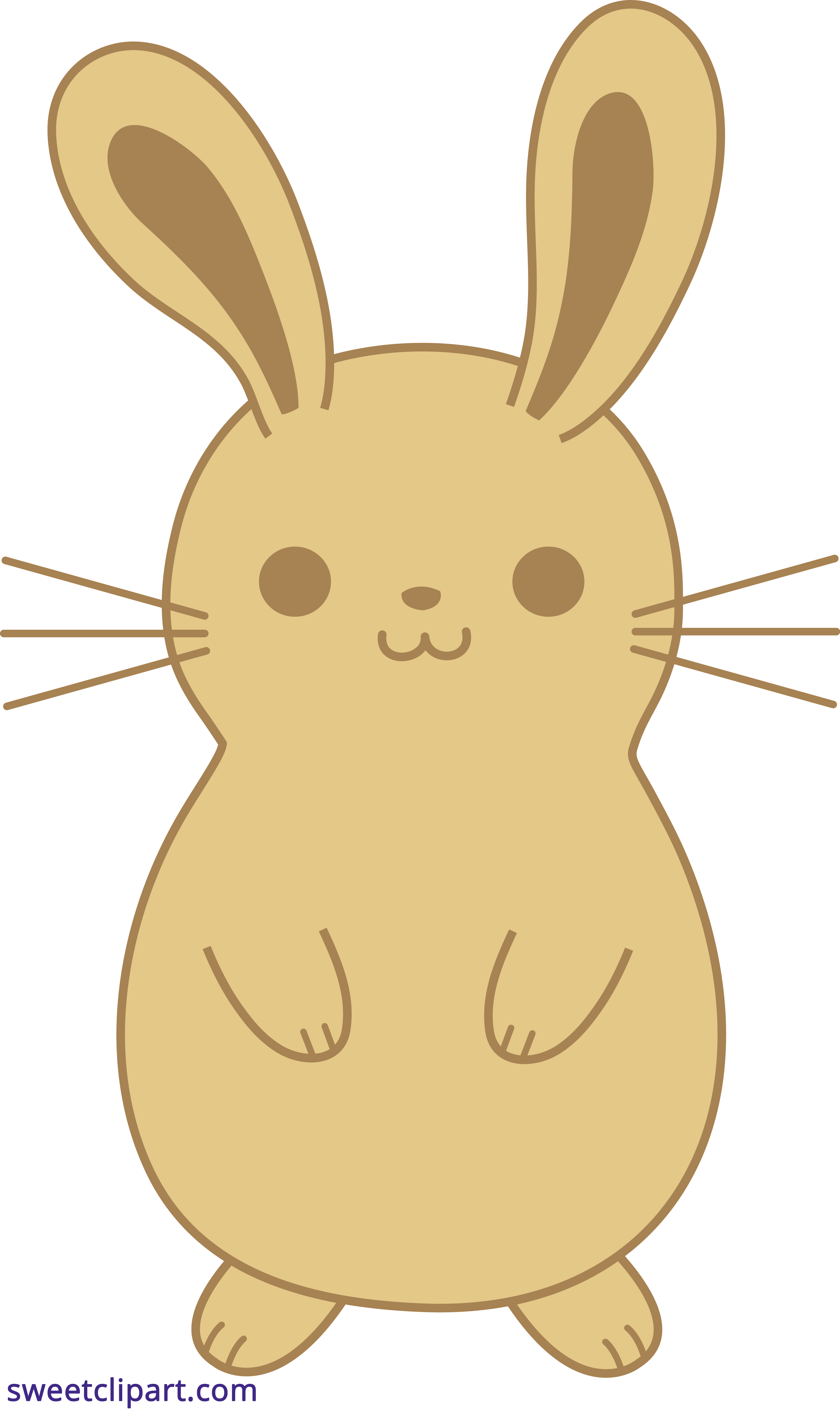 Bunny clipart cute bunny. Rabbit brown sweet clip