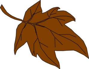 Brown clipart. Fall leaves