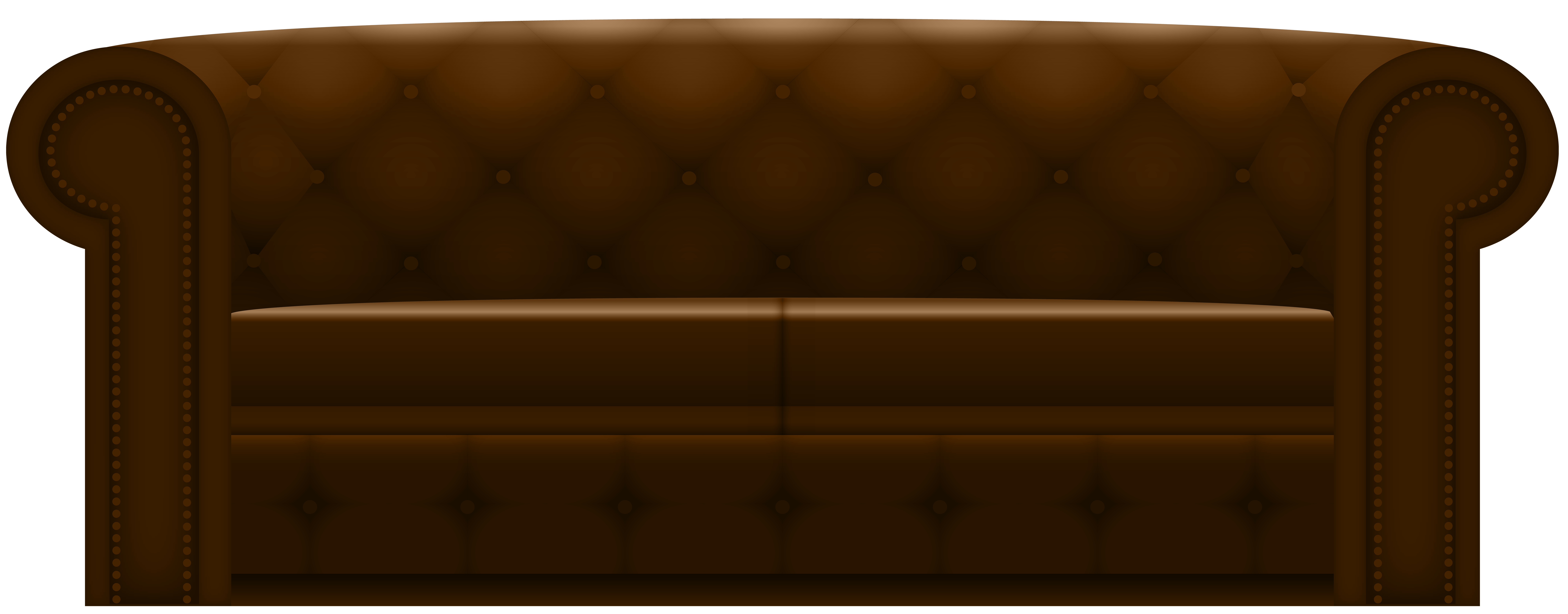 Sofa transparent brown. Couch png clip art