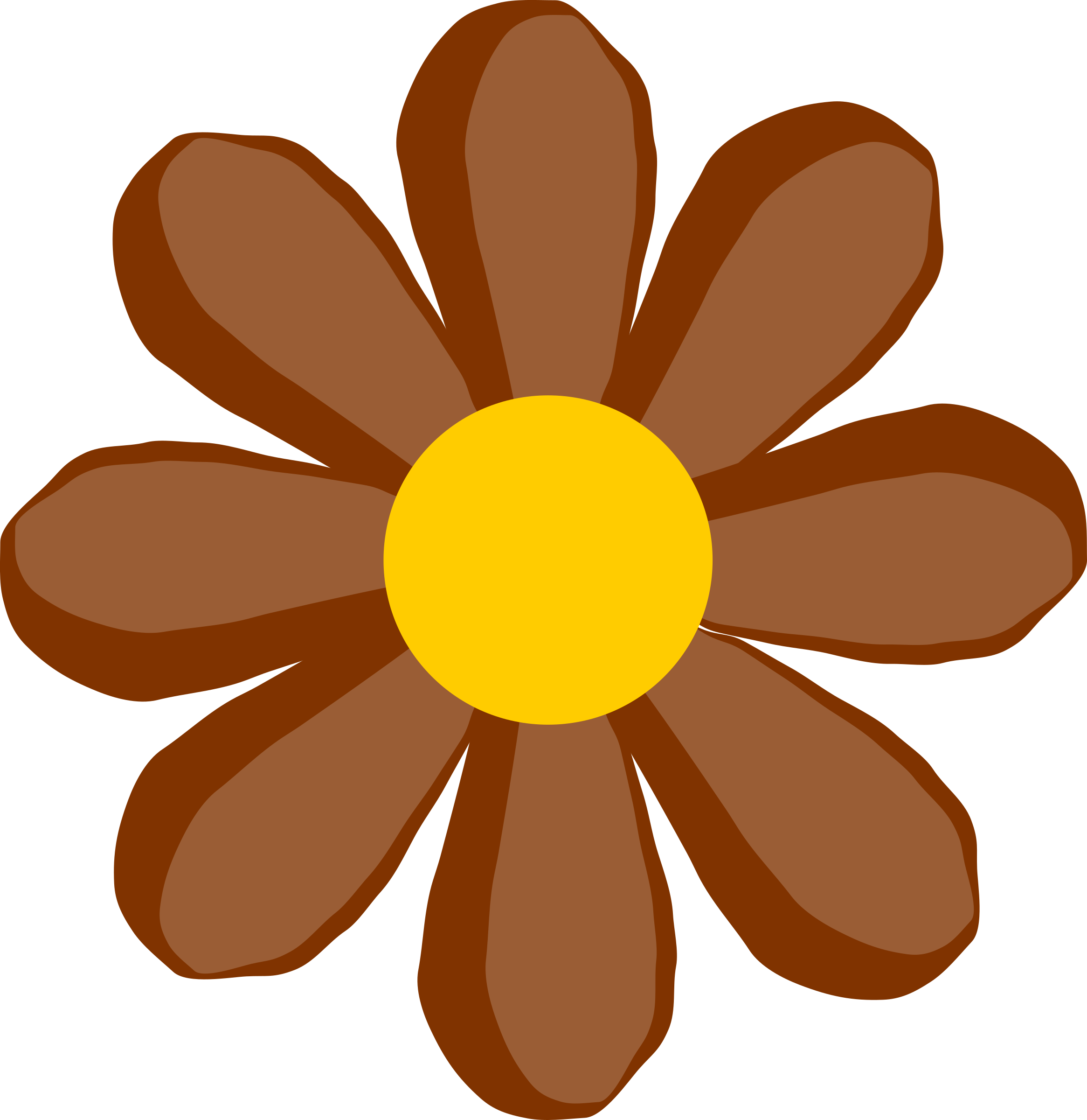 Brown flower png. Icons free and downloads