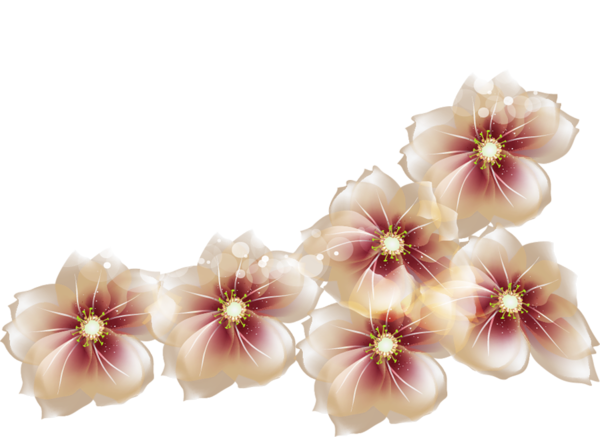 Brown flower png. Res flowers by hanabell