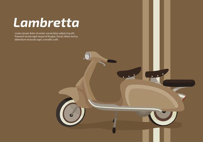 Brown moped. Lambretta classic scooter free