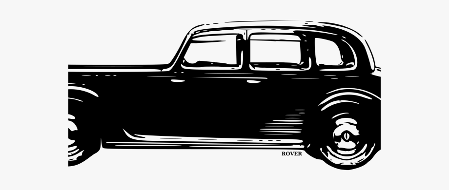 Brown rover. Classic car clipart old