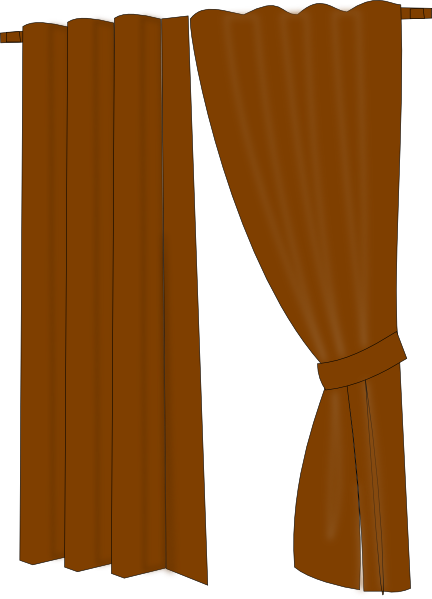 Brown stage curtains png. Clip art at clker