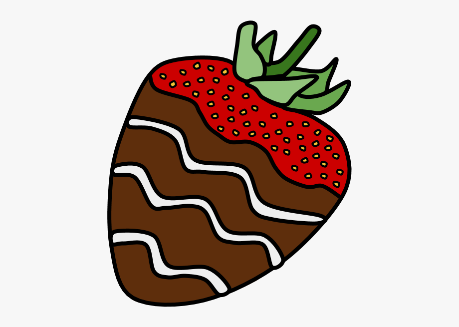Brown strawberry. Chocolate dipped strawberries png