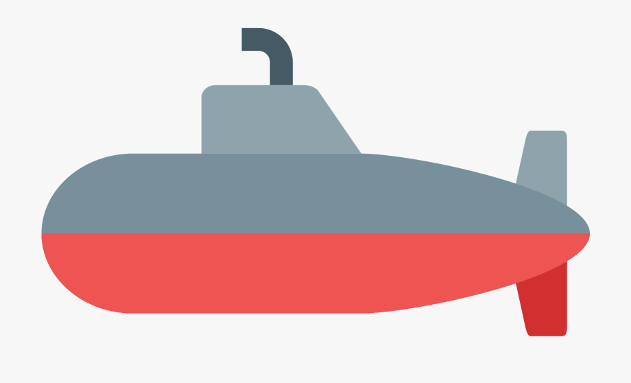 Red submarine. Png image file boat