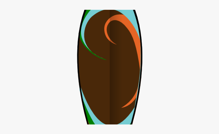 Brown surfboard. Clipart colorful free cliparts