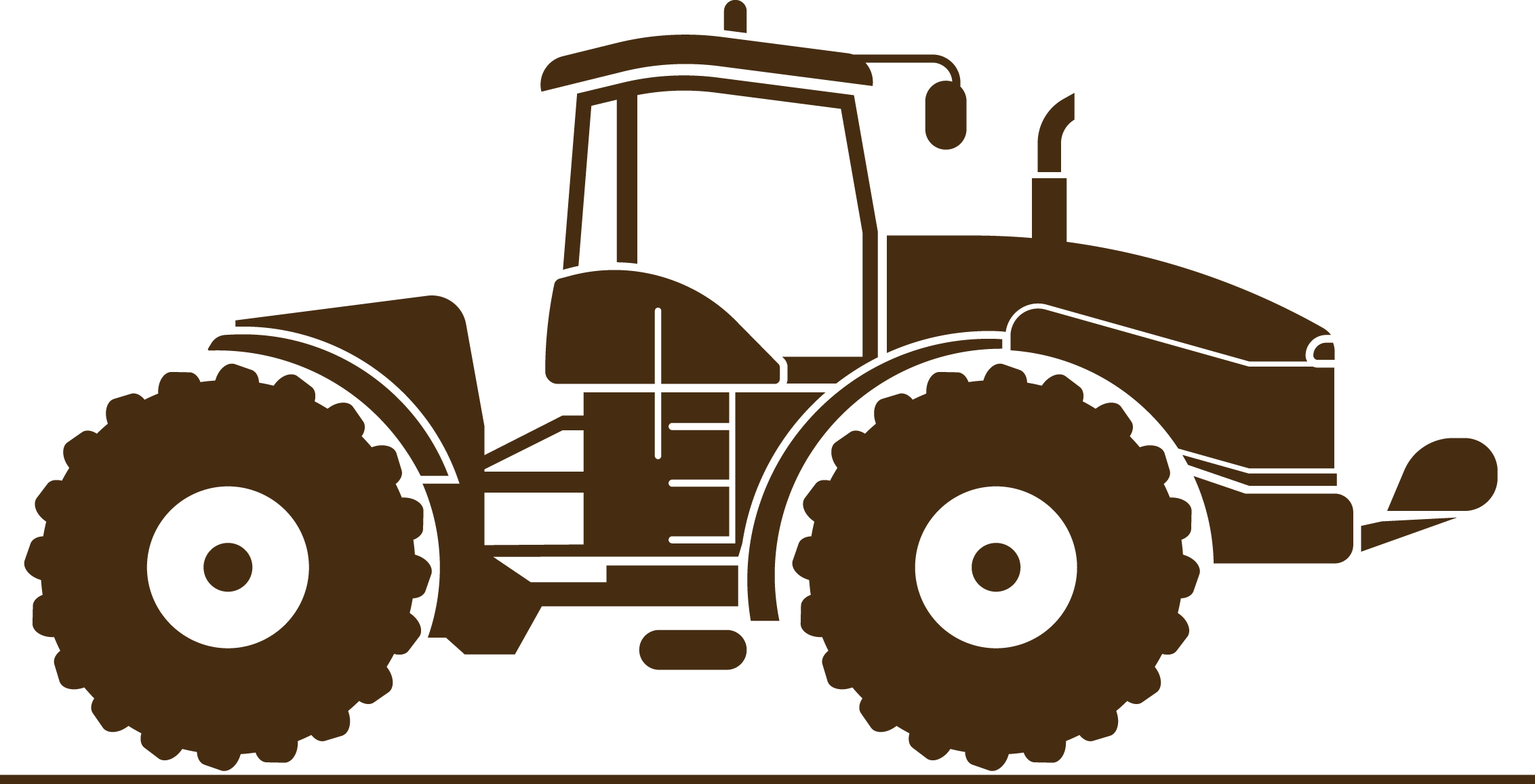Brown tractor. Agriculture agricultural machinery farmer