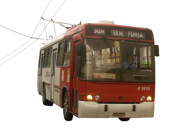 Brown trolleybus. Sao paulo free images