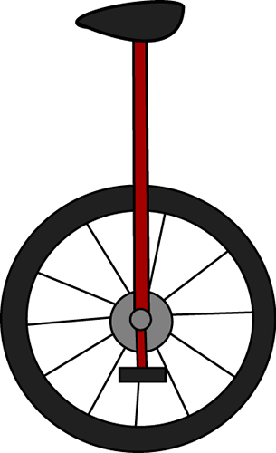 Brown unicycle