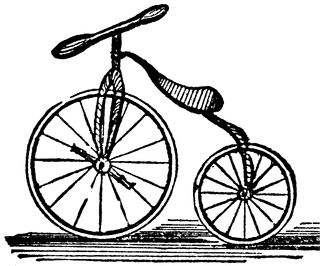 Brown velocipede. Clipart etc outydse nie