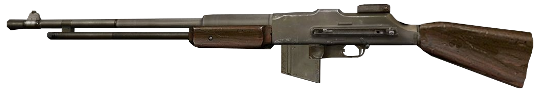 Browning automatic rifle png. Image bar side view