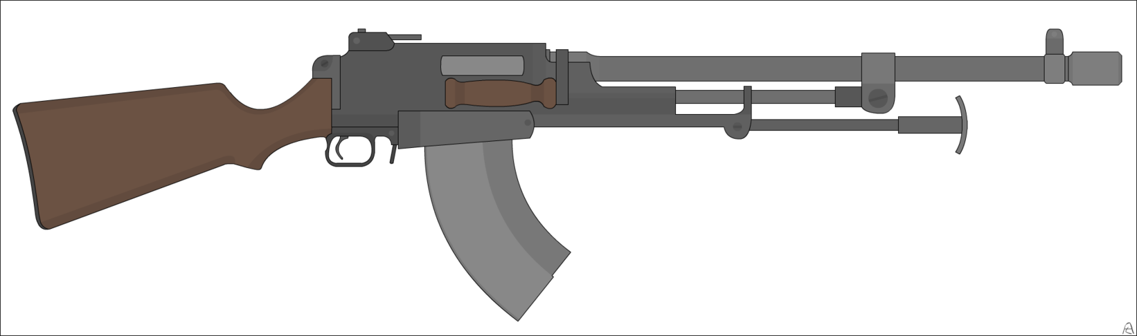 Browning automatic rifle png. Fordorsia model by airborneleaf
