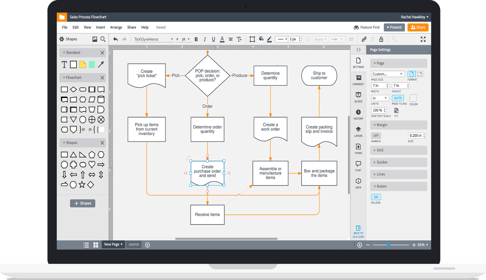 Flowchart drawing android app. Maker lucidchart increase innovation