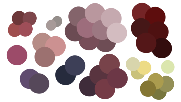 Drawing wounds sai. Color palettes scars bruises