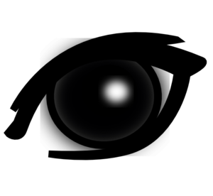 Bruise transparent eye. A black shining with