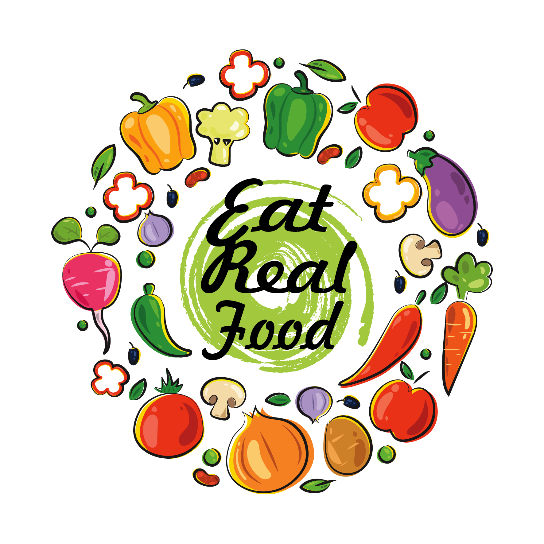 vector fruits badge