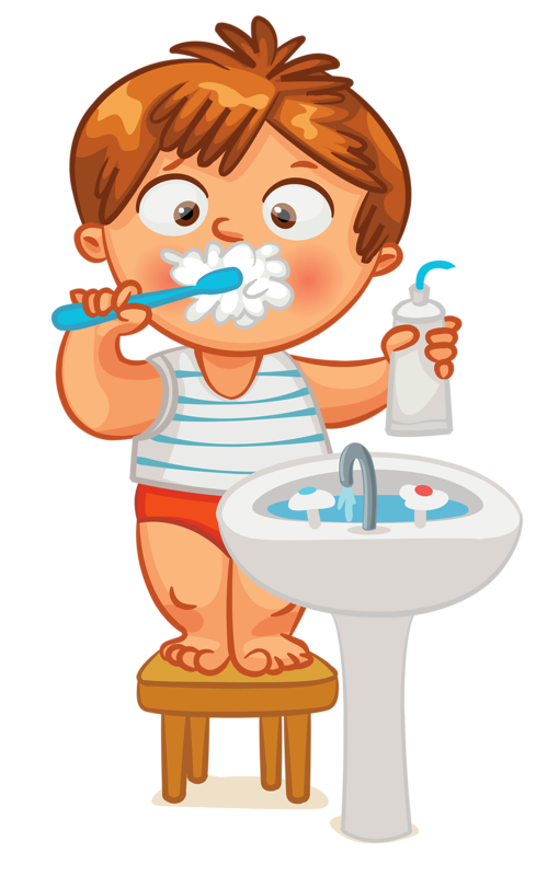 Brush clipart boy. Clip art kid teeth