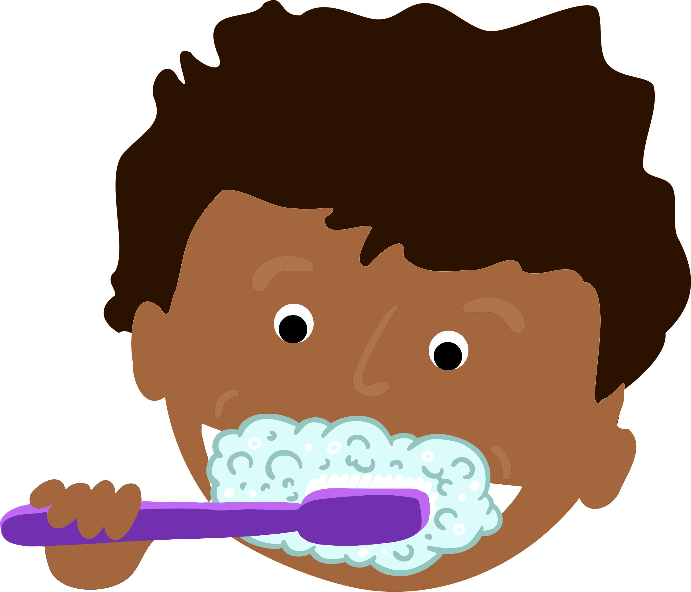 Toothbrush clip tooth brush. Clipart african kid brushing