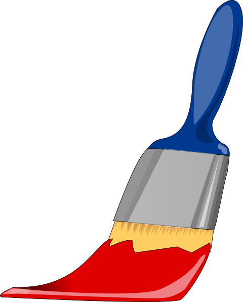 Brush clipart colourful paint. Free pictures of brushes