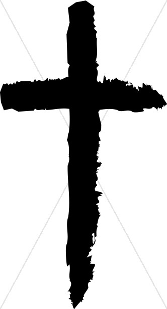 Brush clipart cross. Black stroke