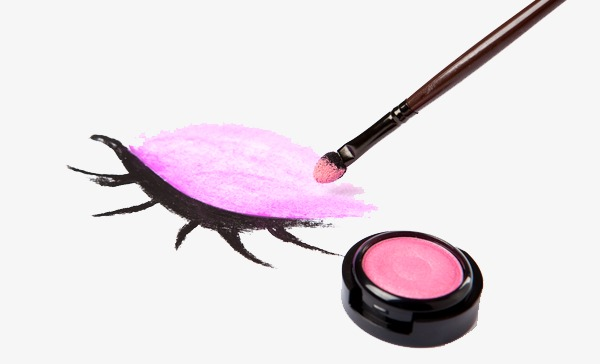 Brush clipart eye. Pink makeup nice png