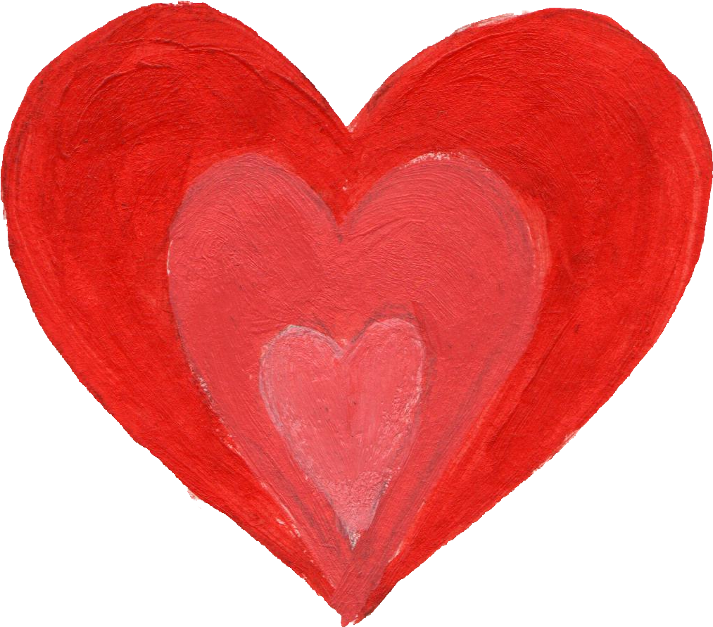 Brush heart png. Painted transparent onlygfx