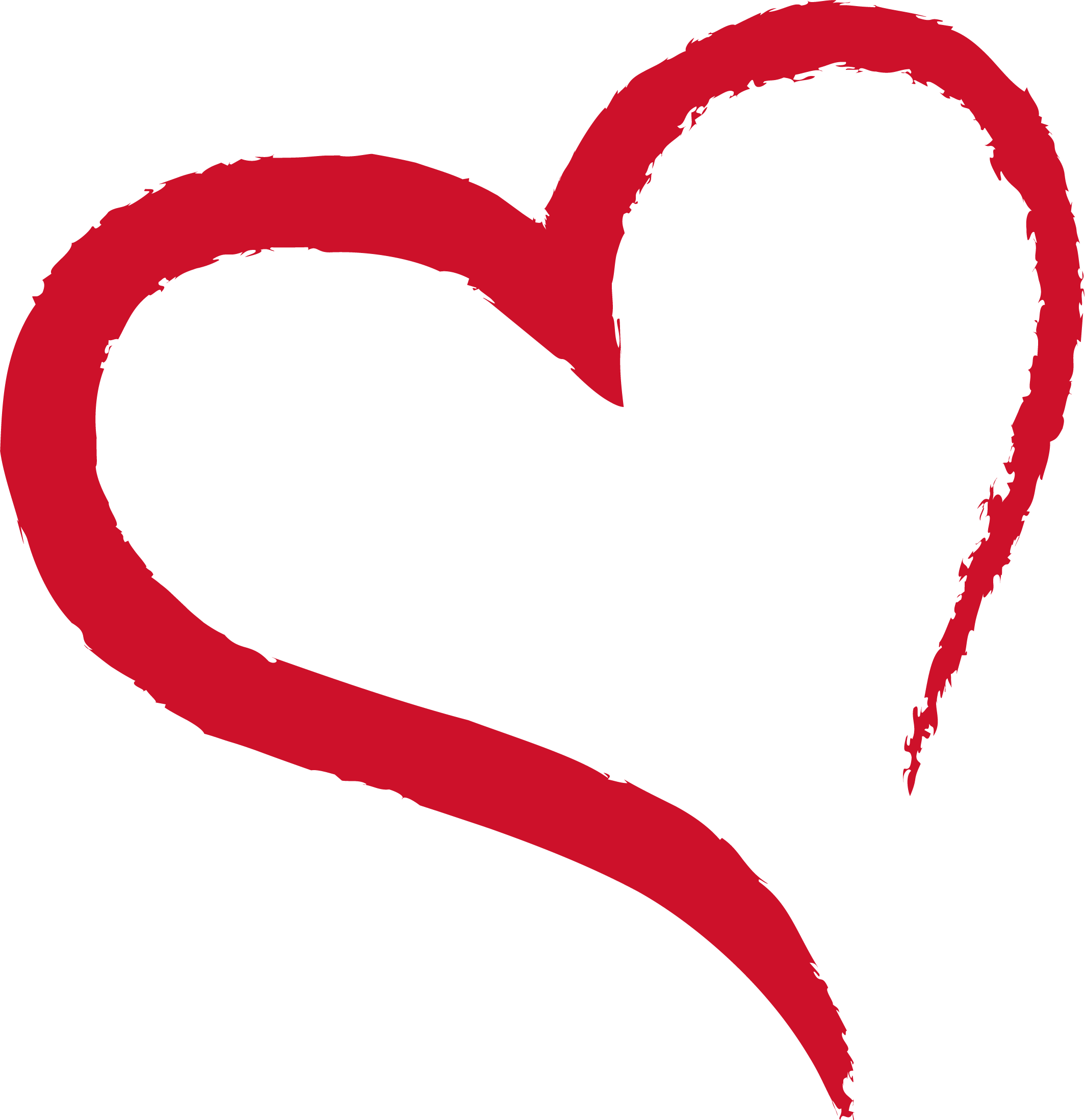 Brush heart png. Ink transprent free download