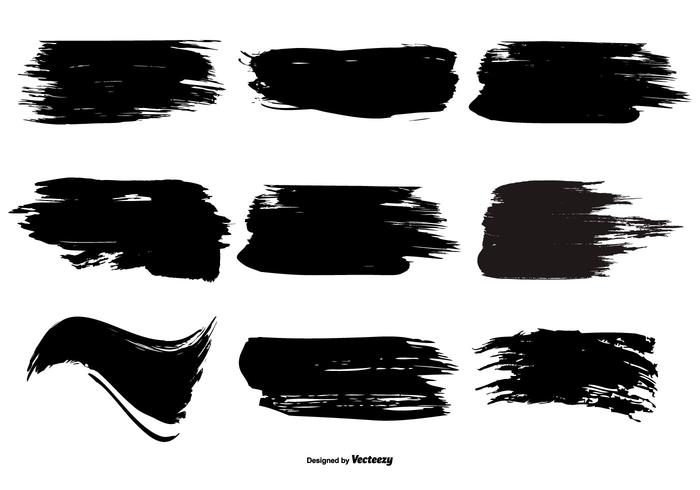 Brush stroke. Paint shape collection download