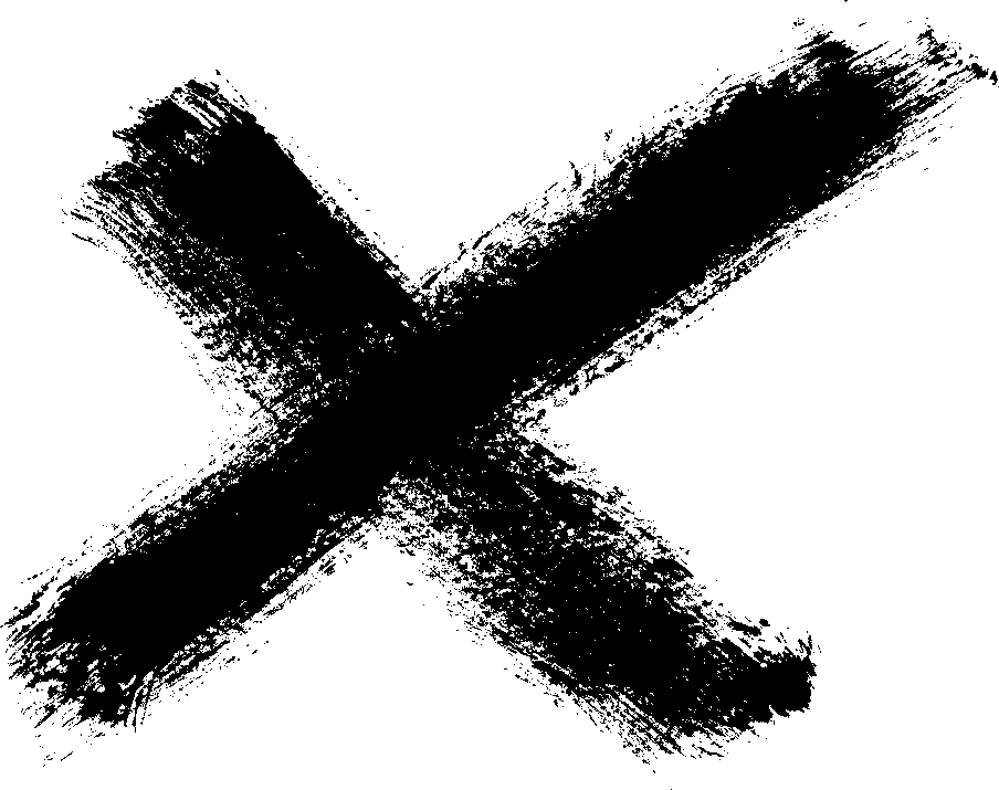 Brush stroke cross png. Grunge x transparent