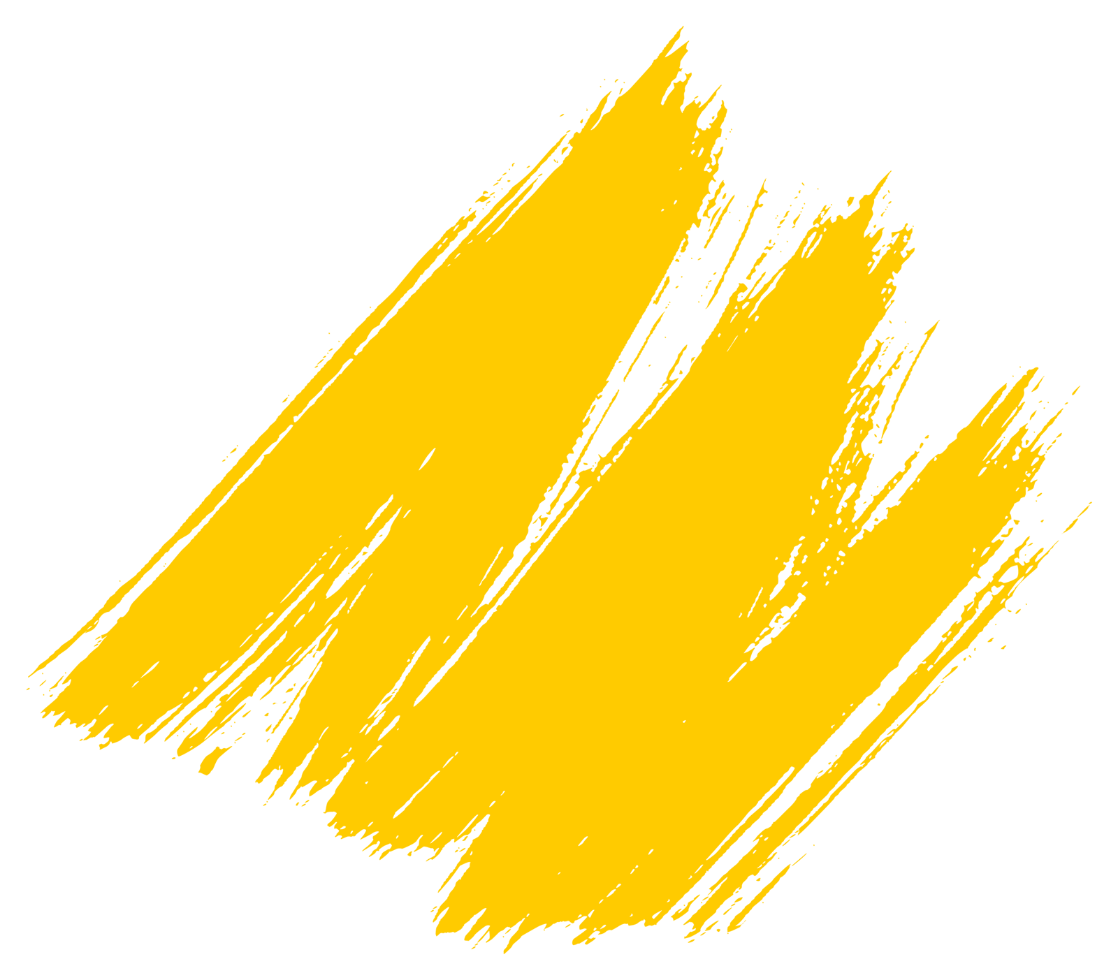 Gold paint stroke png. Yellow brush style free