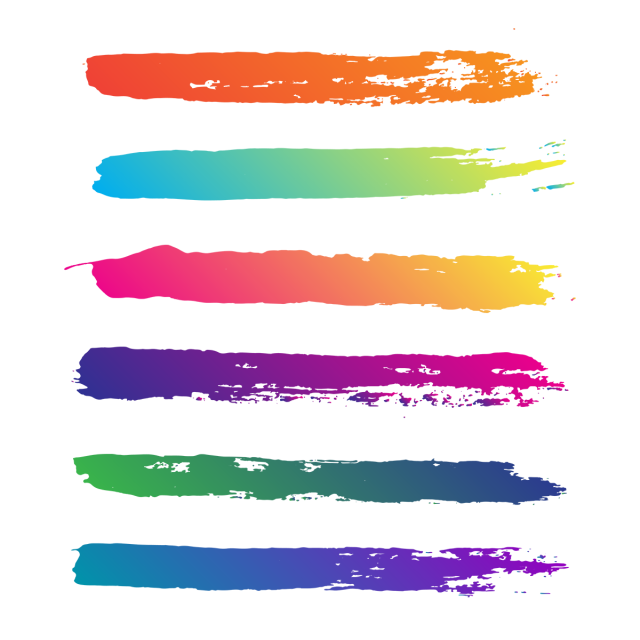 Brush stroke vector png. Creative abstract colorful and