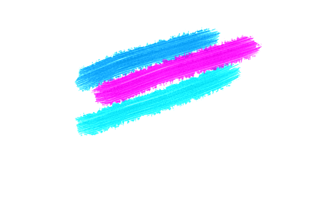Brush strokes png. Bright color transparent elements