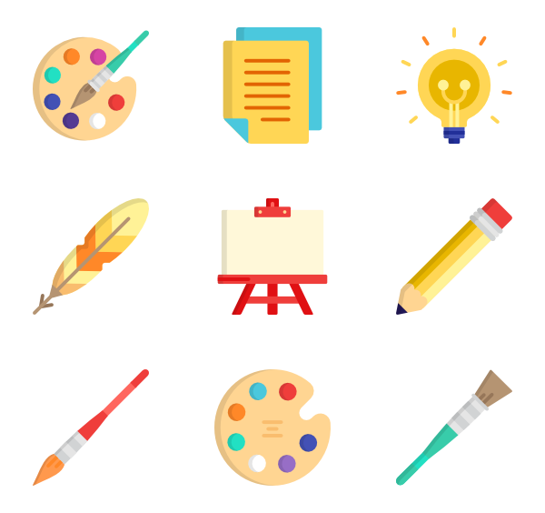 Brush vector png. Paint icons free painting