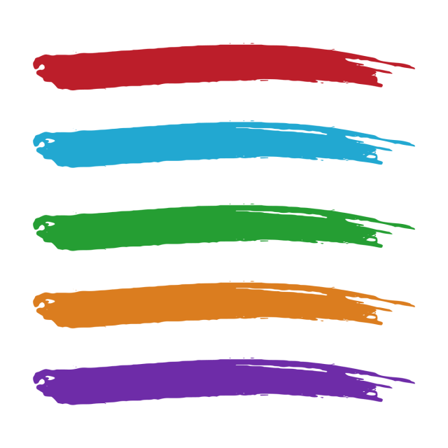 Brush vector png. Colorful watercolor strokes collection