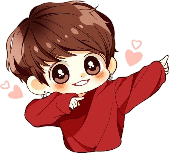 Bts chibi png. Jungkook cute sticker by