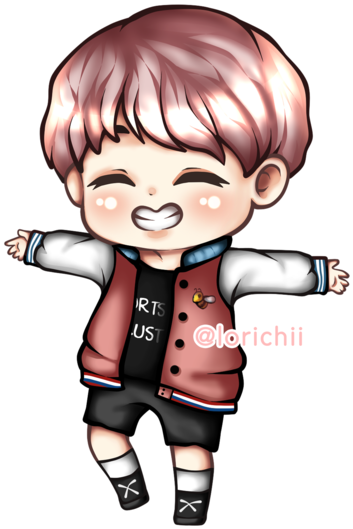 Bts chibi png. Download j hope drawing